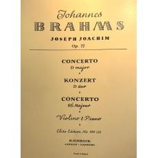 BRAHMS OP.77 Concerto in Do Maggiore Violino e Piano