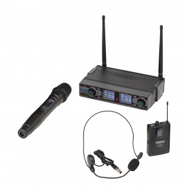 SOUNDSATION WF-D290HP Radiomicrofono UHF Digitale Doppio