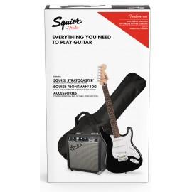 Squier Pack STRAT BLK GB 10G