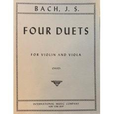 Bach Four Duets Violino e Viola