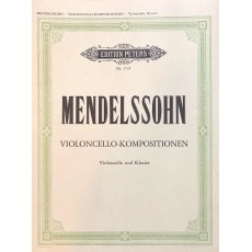 Mendelssohn Kompositionen Violoncello e pianoforte