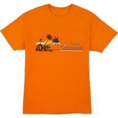 Fender Hang Loose Unisex T-Shirt, Orange M