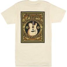 Fender ACOUSTASONIC TELE T-SHIRT, CREAM M