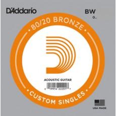 D'Addario BW020 Single 80/20 Bronze Wound 020