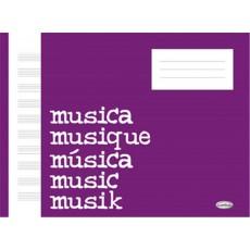 Quaderno di musica 10 righi 68 pagine