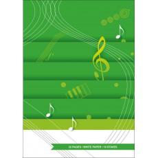 Quaderno di musica 10 righi