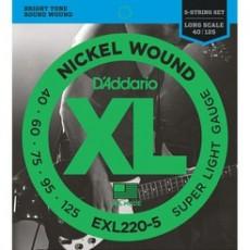 D'Addario EXL220 -5 40-125