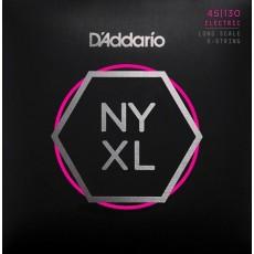 D'Addario Set Long Scale, Regular Light 5-String, 45-130