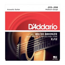 D'Addario EJ12  80/20 Bronze .013-.056