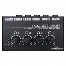 SOUNDSATION POCKET-AMP Mini amplificatore per cuffie a 4 canali c