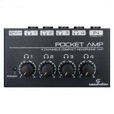 SOUNDSATION POCKET-AMP Mini amplificatore per cuffie a 4 canali c