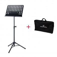 Soundsation SPMS-200+BAG Bundle leggio da orchestra tavola forata removibile e borsa