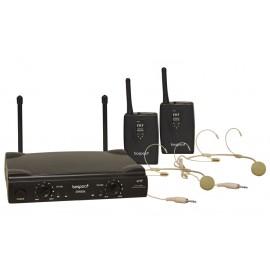 Bespeco GM905H Doppio radiomicrofono Headset VHF