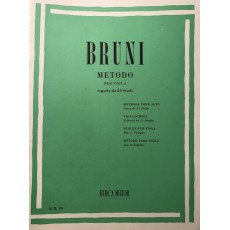 Bruni - Metodo Per Viola Seguito Da 25 Studi