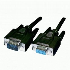 Cavo prolunga monitor SVGA standard M/F 7,5 mt NERO