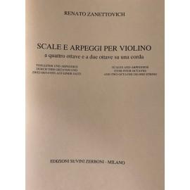 Zanettovich Scale Arpeggi per violino