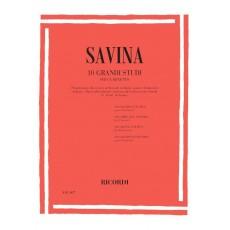 Savina 10 Grandi Studi per Clarinetto