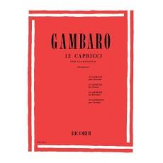 Gambaro 12 Capricci per Clarinetto