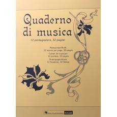 Quaderno di Musica 12 pentagrammi