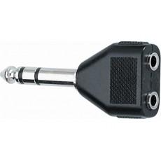 Adattatore  Jack 6.3 mm stereo / 2 Jack 3.5 mm stereo femmina