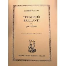 Aguado Tre Rondò Brillanti op 2 Per Chitarra