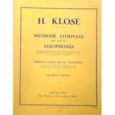 Klosé - Méthode Complète pour tous les SAXOPHONES